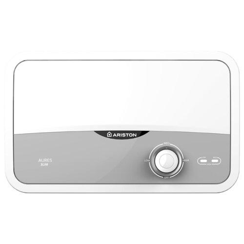 Проточный электрический водонагреватель Ariston Aures S 3.5 COM PL, белый