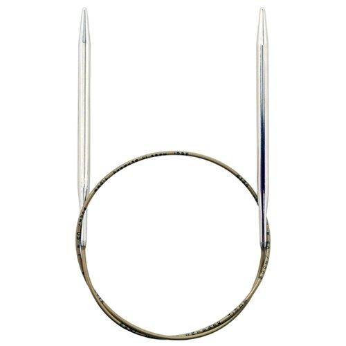 Спицы ADDI круговые супергладкие 105-7, диаметр 4.5 мм, длина 50 см, серебристый/золотистый