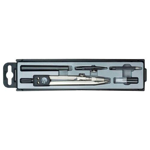 Купить Globus Набор чертежный 5 предметов (НЧ5-30-40) серебристый/черный, Чертежные инструменты
