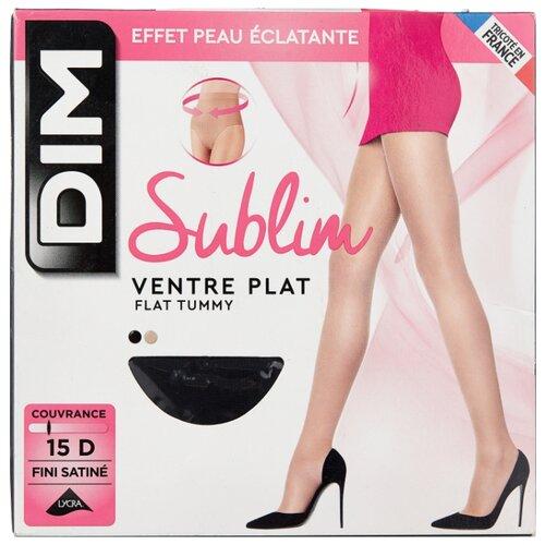 Колготки DIM Sublim Ventre Plat 15 den, размер 2, noir (черный) fra0109 plat sv0108 2