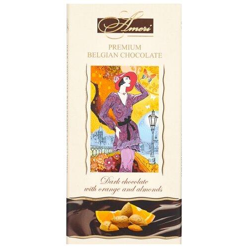 шоколад ameri горький 57% с лимоном и черным перцем 100 г Шоколад Ameri горький с миндалём и апельсином, 100 г