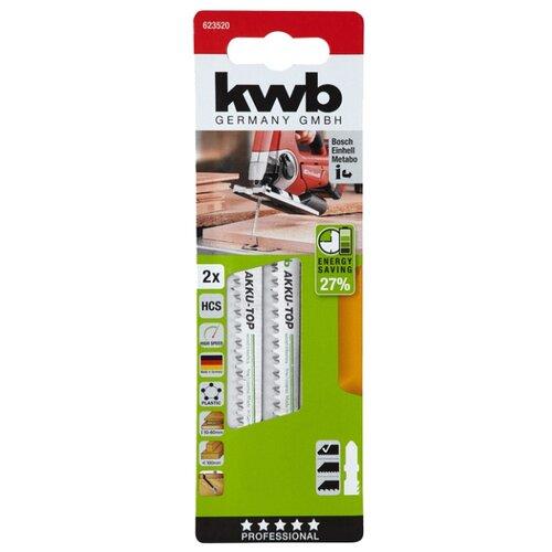 Набор пилок для лобзика kwb 623520 2 шт. набор абразивных насадок kwb стандарт для мфу 3 шт