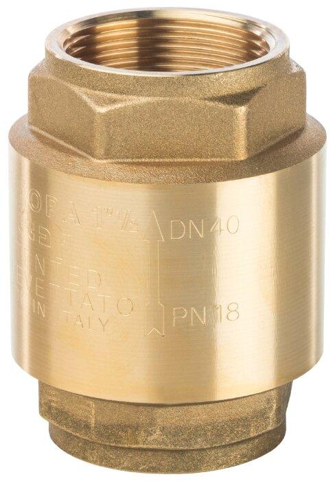 Обратный клапан пружинный STOUT SVC-0001-000040 муфтовый (ВР/ВР), латунь