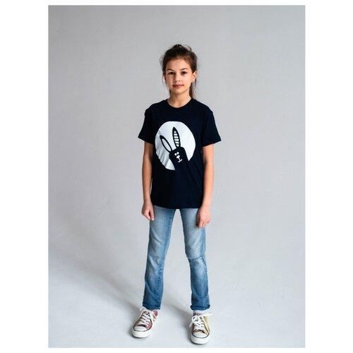 Футболка Вася Василиса размер 110, темно-синий футболка для мальчика batik цвет темно синий голубой ds0173 10 11 размер 110