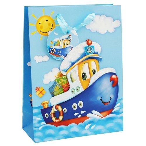 Пакет подарочный Perfect Craft Кораблик 26 х 32 х 10 см голубой цена 2017