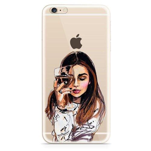 Чехол-накладка With Love. Moscow W002780APP для Apple iPhone 6 Plus/iPhone 6S Plus Девушка с вином чехол with love moscow w003594app для apple iphone 7 iphone 8 прозрачный