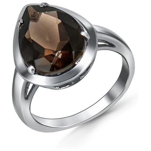 Silver WINGS Кольцо с раухтопазами из серебра 21gre1767-69, размер 18