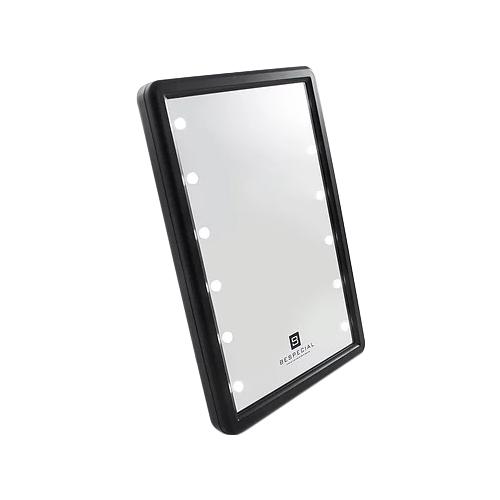 Зеркало косметическое настольное BESPECIAL 22 х 15 х 2,6 см с подсветкой черный