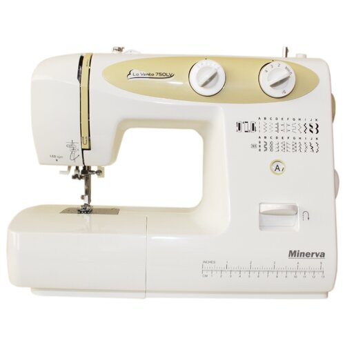Швейная машина Minerva VENTO 750LV, бело-желтый швейная машина minerva f 832 b