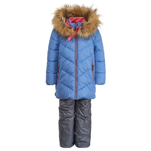 Купить Комплект с полукомбинезоном Oldos Симона OAW192T1SU53 размер 98, голубой/розовый, Комплекты верхней одежды