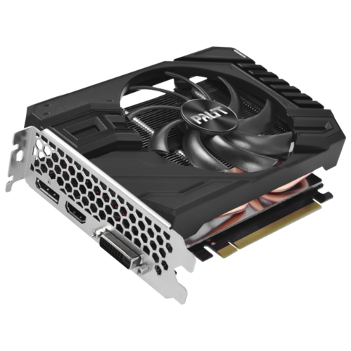 Видеокарта Palit GeForce GTX 1660 Ti 1500MHz PCI-E 3.0 6144MB 12000MHz 192 bit DVI HDMI DisplayPort HDCP StormX OC Retail