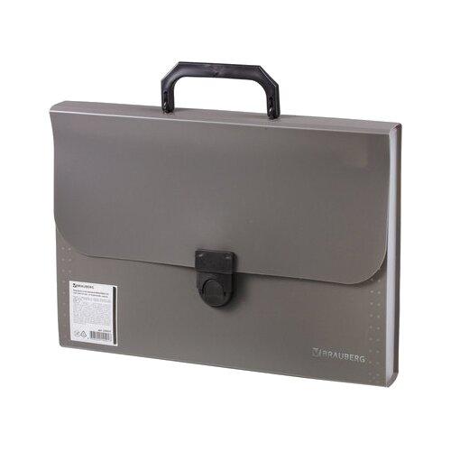 Купить BRAUBERG Портфель пластиковый Проект А4, 13 отделений серый, Файлы и папки