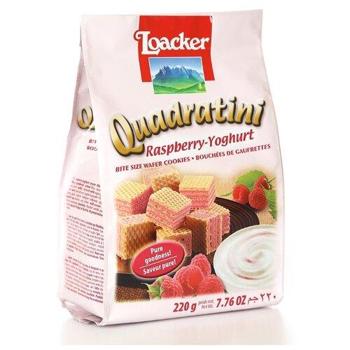 Вафли Loacker Квадратини малина и йогурт 220 г