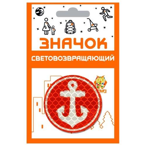 Светоотражатель COVA Якорь, красный