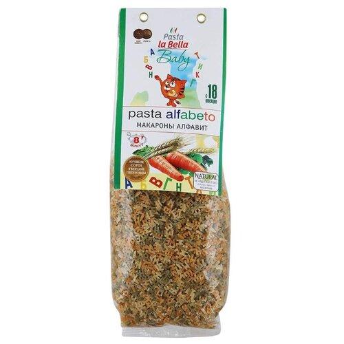Pasta la Bella Baby Макароны Алфавит с морковью и шпинатом, 400 гМакароны<br>