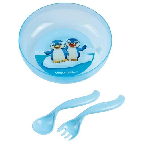 Тарелка Canpol Babies на присоске с крышкой (21/300) голубой