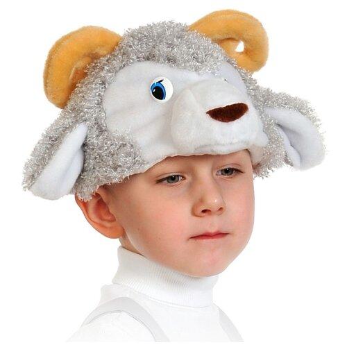 Купить Маска КарнавалOFF Барашек (4049), серый/белый, размер 53-55, Карнавальные костюмы