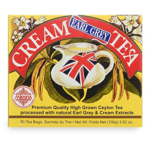 Чай черный Mlesna Cream earl grey в пакетиках, 50 шт. чай зеленый mlesna в пакетиках 50 шт