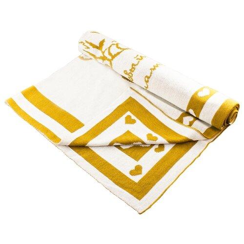 Купить Плед LEO 1611 90x100 горчичный тигрёнок, Покрывала, подушки, одеяла