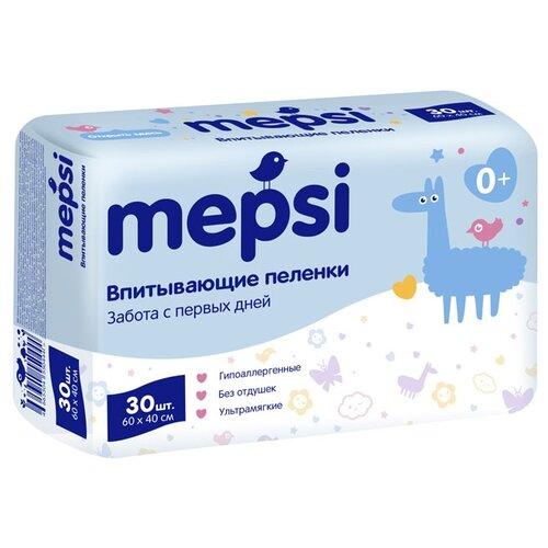 Купить Одноразовые пеленки Mepsi 60х40 30 шт., Пеленки, клеенки