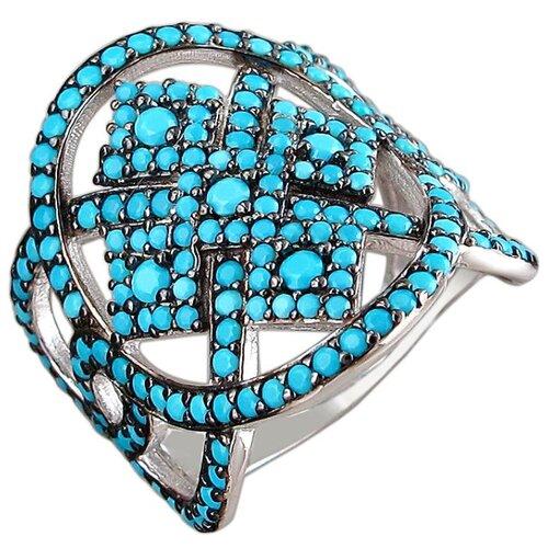 Эстет Кольцо с фианитами из серебра 01К2510189-2, размер 16 ЭСТЕТ