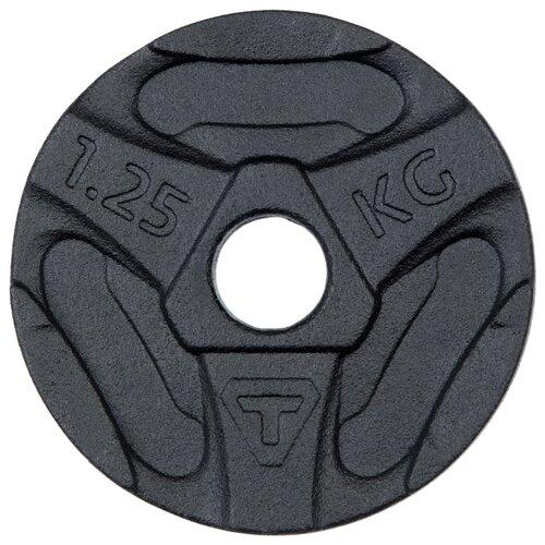 Диск Torneo стальной 1.25 кг (1050-12) черный