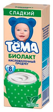 Биолакт Тема детский сладкий (с 8-ми месяцев) 3.2%, 208 г