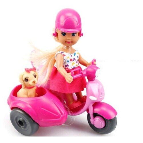 Кукла Tongde с мотоциклом и собачкой, K080181