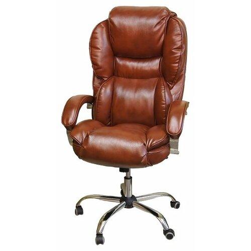 цена на Компьютерное кресло Креслов Барон КВ-12-131112 для руководителя, обивка: искусственная кожа, цвет: виски 0468