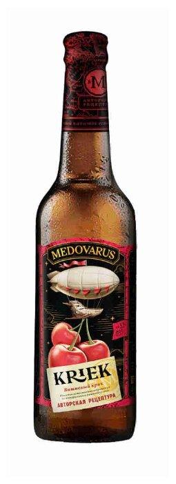 Медовый напиток MEDOVARUS Хмельной мёд Вишнёвый Крик непастеризованный фильтрованный 0,33 л