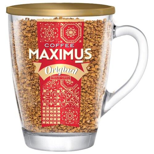 maximus nero кофе растворимый в стеклянной кружке 70 г Кофе растворимый Maximus Original, стеклянная кружка, 70 г