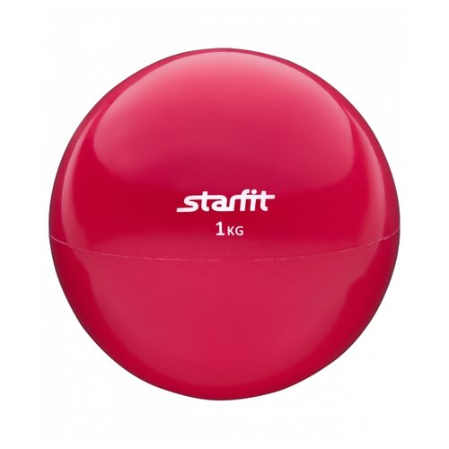 Медбол Starfit GB-703, 1 кг красный