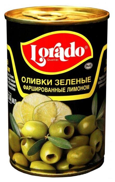 Lorado Оливки зеленые фаршированные лимоном, жестяная банка 314 мл