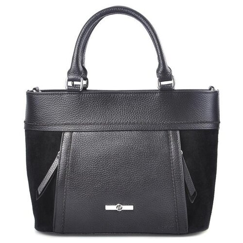 Сумка тоут Afina 449, натуральная кожа, черный сумка afina afina af004bwepfz7
