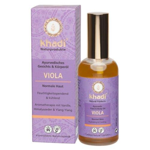 Масло для тела Khadi Naturprodukte Виола, 100 мл khadi naturprodukte pink lotus масло для лица и тела розовый лотос 10 мл
