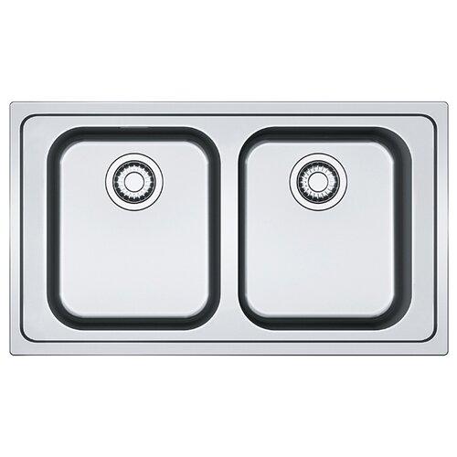 Врезная кухонная мойка 86 см FRANKE SRX 620-86 101.0356.666 нержавеющая сталь/полированная мойка franke agx 260 нержавеющая сталь