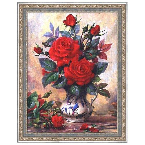 Купить Алмазная живопись Набор алмазной вышивки Прекрасные розы (АЖ-1349) 40х30 см, Алмазная вышивка