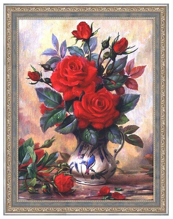 Алмазная живопись Набор алмазной вышивки Прекрасные розы (АЖ-1349) 40х30 см — купить по выгодной цене на Яндекс.Маркете