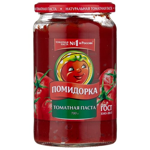 Помидорка Томатная паста, стеклянная банка 700 г кубань продукт паста томатная 70 г
