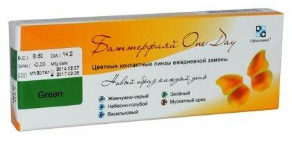 Контактные линзы Офтальмикс Butterfly One Day (2 линзы) — купить по выгодной цене на Яндекс.Маркете