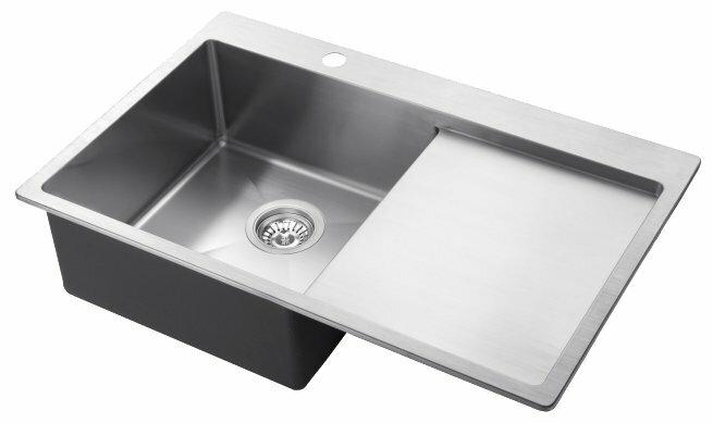 Врезная кухонная мойка AQUASANITA Luna LUN101N-L 78х50см нержавеющая сталь