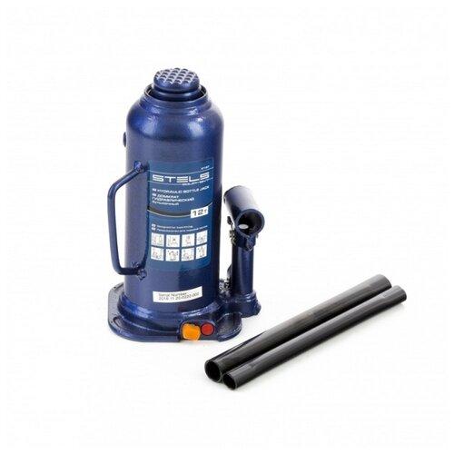 Домкрат бутылочный гидравлический Stels 51167 (12 т) синий