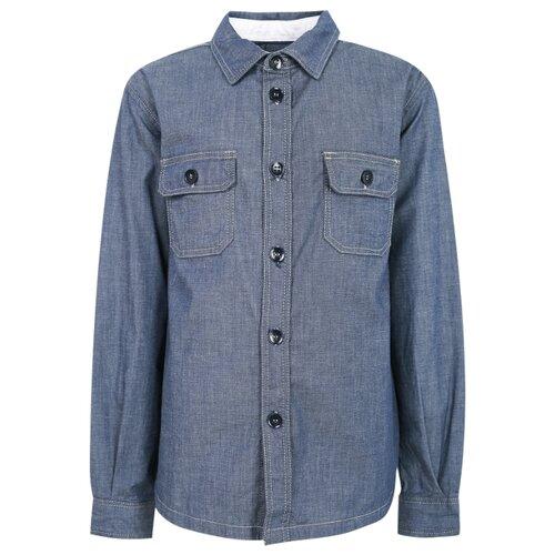 Купить Рубашка Paolo Pecora размер 140, синий, Рубашки