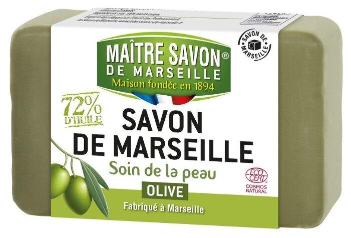 Мыло кусковое Maitre Savon de Marseille Оливковое