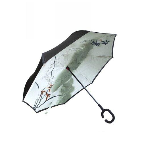 Зонт механика Удачная покупка YS08 черный/белый/зеленый зонт механика удачная покупка ys01 черный желтый
