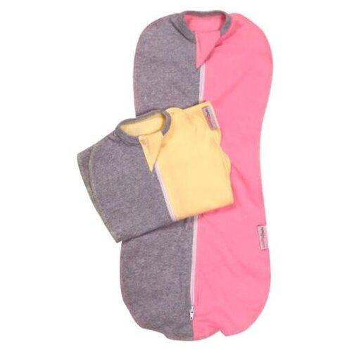 Купить Многоразовые пеленки СуперМаМкет на молнии Меланж 3-5 мес. комплект 2 шт. розовый/желтый, Пеленки, клеенки