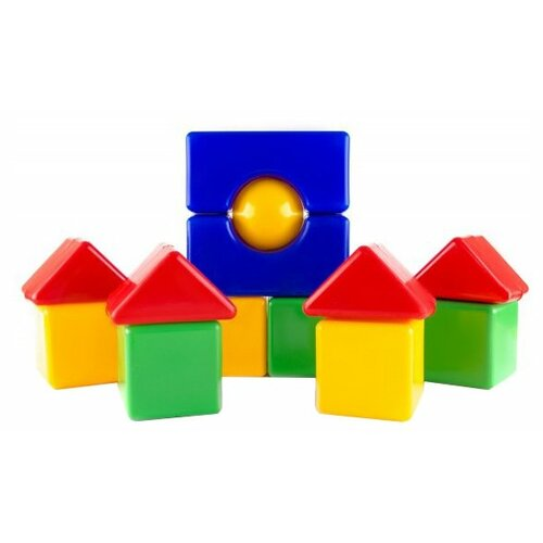Кубики Пластмастер Большая стройка 14024 кубики пластмастер набор 14047