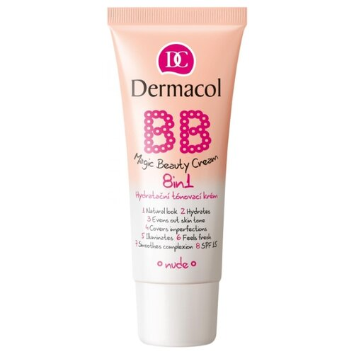 Dermacol BB Magic Beauty крем мультиактивный для красоты кожи 8в1 SPF15 30 г, SPF 15, 30 г, оттенок: 2 nude