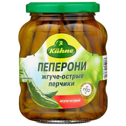 Пепперони жгуче-острые Kuhne стеклянная банка 300 г
