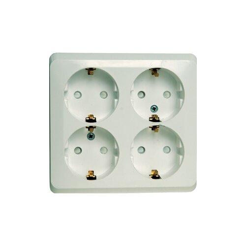 Розетка Schneider Electric PA16-208B,16А, с защитной шторкой, с заземлением, белый розетка xiaomi mi smart plug wifi 16а с защитной шторкой с заземлением белый